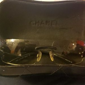 Used authentic chanel glasses